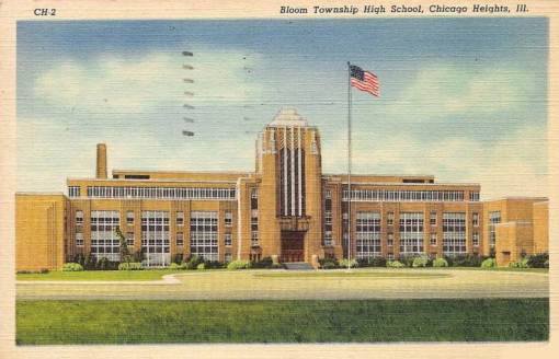 postcard-chicago-chicago-heights-bloom-township-high-school-nice-1942